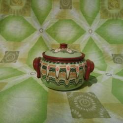 Clay Crock Big 1000ml Reseda Green Color - Troyan Hand Made Ceramics