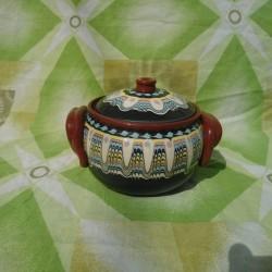 Clay Crock Big 1000ml Black Color - Troyan Hand Made Ceramics