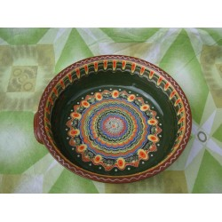 CERAMIC PAN CLASSIC PATTERN GREEN COLOR
