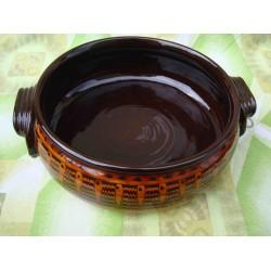 Ceramic tray classic caramel pattern 35cm