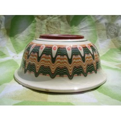 SALAD CUP Trojan Pattern White Color