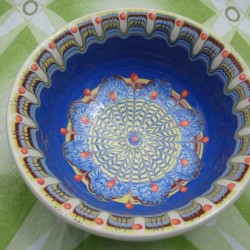 SALAD CUP Trojan Pattern Blue Color