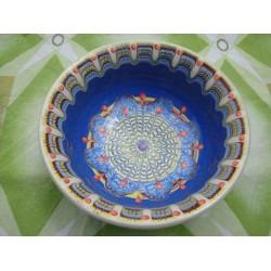 SALAD CUP Trojan Pattern Blue Color