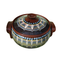 Clay Crock 5 liters Red Color - Troyan autentic pattern