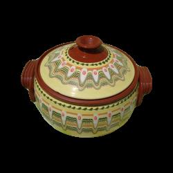 CLAY CROCK 5 Liters Yellow - Troyan hand Made Ceramics