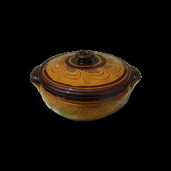 BIG ENGRAVED 8 Liters CLAY CROCK - Troyan Hand Made Ceramics