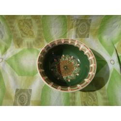 SALAD CUP Trojan Pattern Green Color
