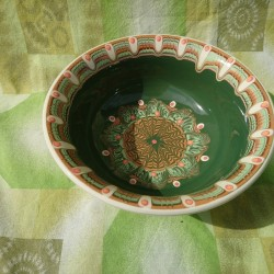 SALAD CUP Trojan Pattern Green Color