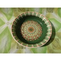 CERAMIC PAN CLASSIC PATTERN GREEN COLOR