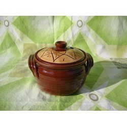 Clay CROCK 610 ml Engraved - TROYAN HAND MADE CLAY CROCK